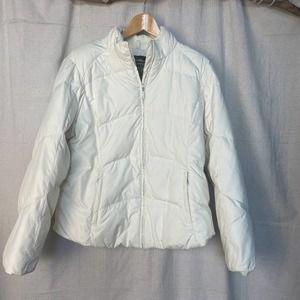 Eddie Bauer Premium Goose Down Ivory Puffer Jacket